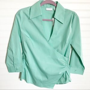 New York & Company || NWT Faux Wrap Blouse Size S